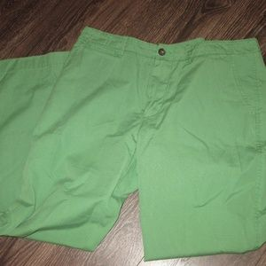 J. Crew Men's Khaki Pants Green 34 X 30